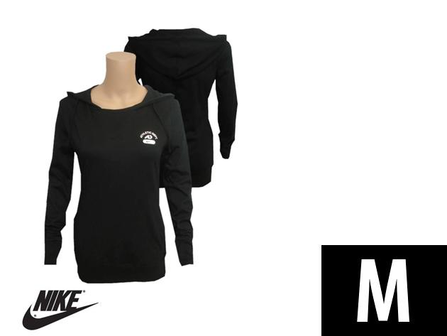 "Nike ""Athletic Dept"" slim fit női kapucnis fekete felső (M)"