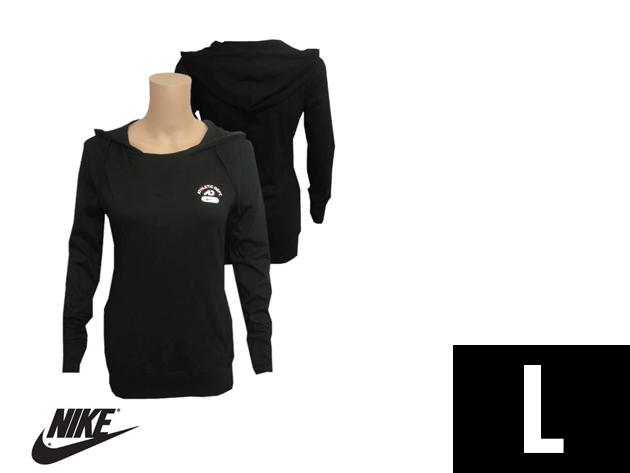 "Nike ""Athletic Dept"" slim fit női kapucnis fekete felső (L)"