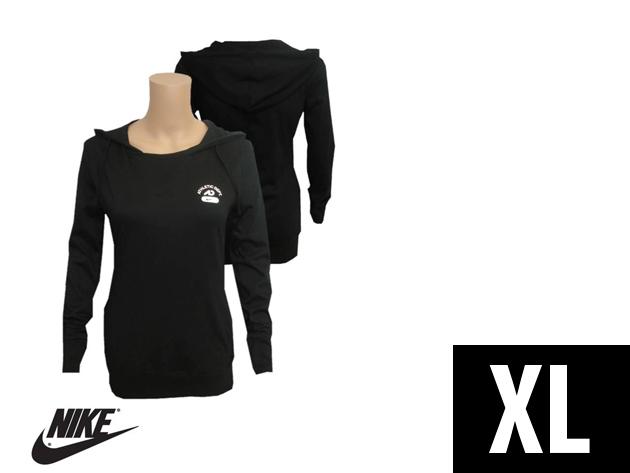 "Nike ""Athletic Dept"" slim fit női kapucnis fekete felső (XL)"
