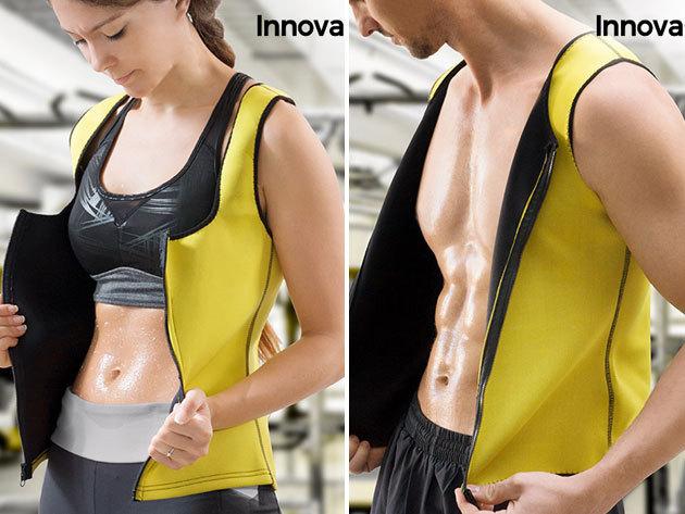 Szauna hatású sportmellény női és férfi méreteken - karcsúsít és fokozza a zsírégetést
