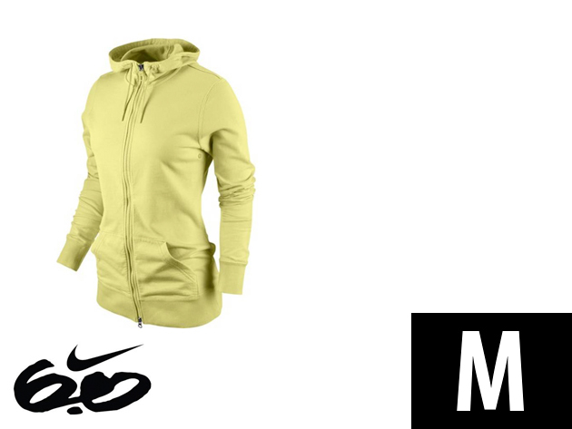"Nike ""Icon"" végig cipzáros, sárga, női felső (M)"
