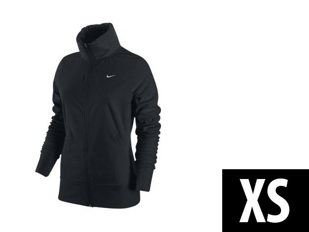 "Nike ""Therma-Fit"" végig cipzáros, fekete, női felső (XS)"