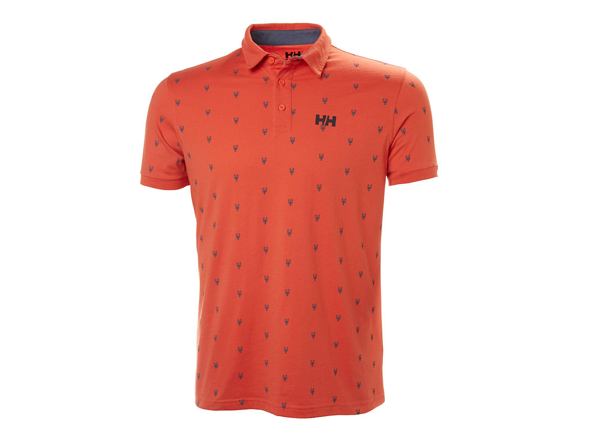 Helly Hansen FJORD POLO - PAPRIKA PRINT - S (53024_118-S )