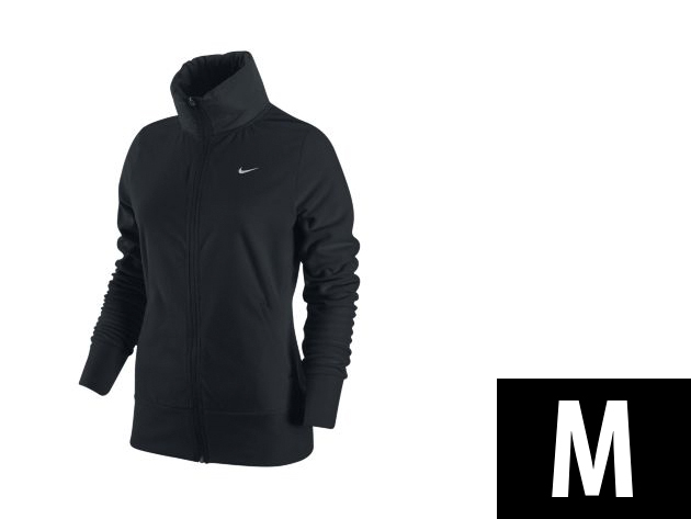 "Nike ""Therma-Fit"" végig cipzáros, fekete, női felső (M)"