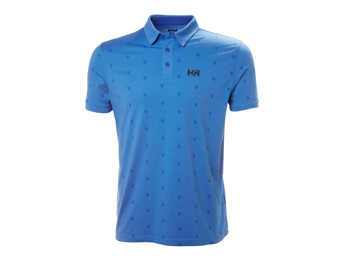 Helly Hansen FJORD POLO - BLUE WATER PRINT - S (53024_503-S )