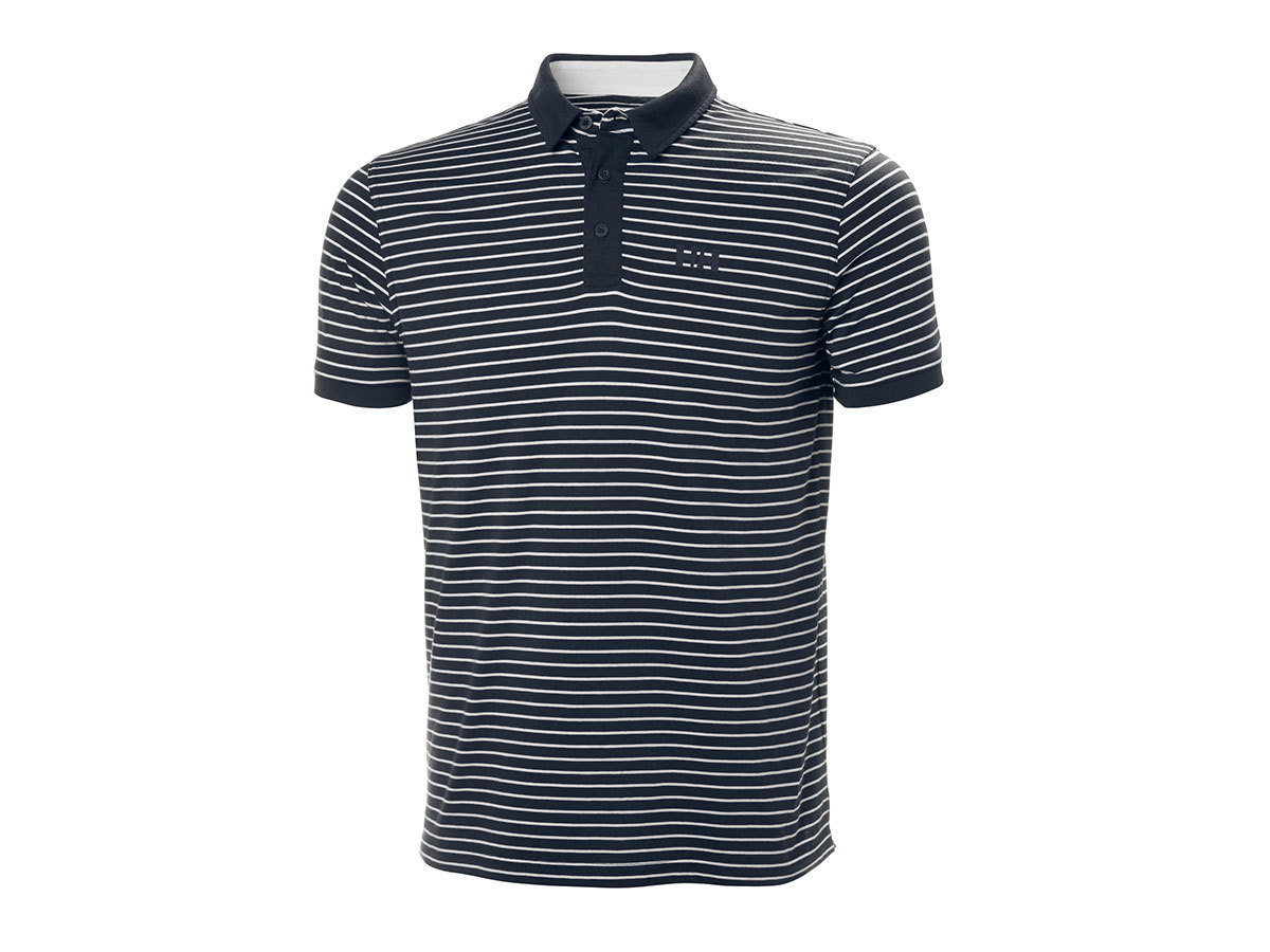 Helly Hansen FJORD POLO - NAVY STRIPES - S (53024_596-S )
