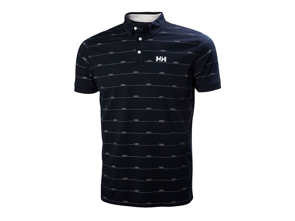 Helly Hansen FJORD POLO - NAVY BOAT - M (53024_597-M )