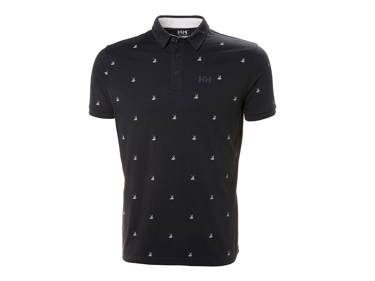 Helly Hansen FJORD POLO - NAVY PRINT - M (53024_599-M )