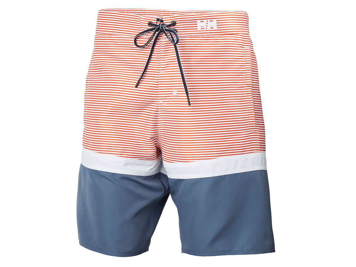 Helly Hansen MARSTRAND TRUNK - PAPRIKA STRIPE - 34 (33982_118-34 )