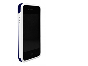 BodyGuardz iPhone 4/4S Ciderz - Védőkeret (Sötétkék/Fehér)