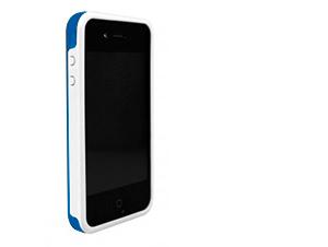 BodyGuardz iPhone 4/4S Ciderz - Védőkeret (Világoskék/Fehér)