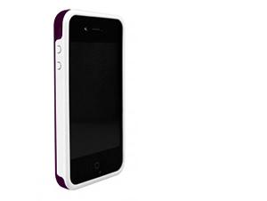 BodyGuardz iPhone 4/4S Ciderz - Védőkeret (Sötétlila/Fehér)