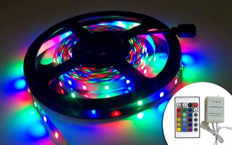 5m RGB LED szett szalag 2835 (szilikonos) IRP-000004022
