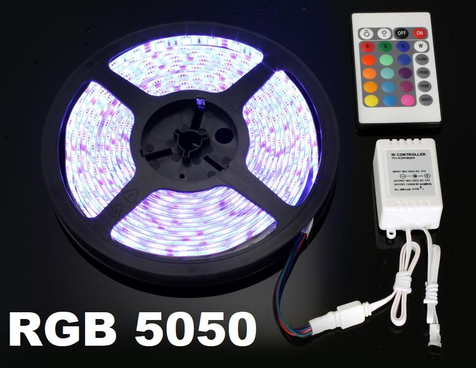 5m RGB LED szett szalag 5050 IRP-000004333
