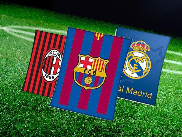 Focis plédek és szőnyegek: Barcelona és Real Madrid, Manchester United, AC Milan - Mutasd ki rajongásod a kedvenc csapatod iránt!