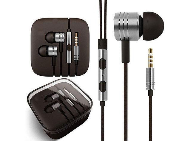 Textil vezetékes PRÉMIUM megjelenésű fülhallgató mikrofonnal