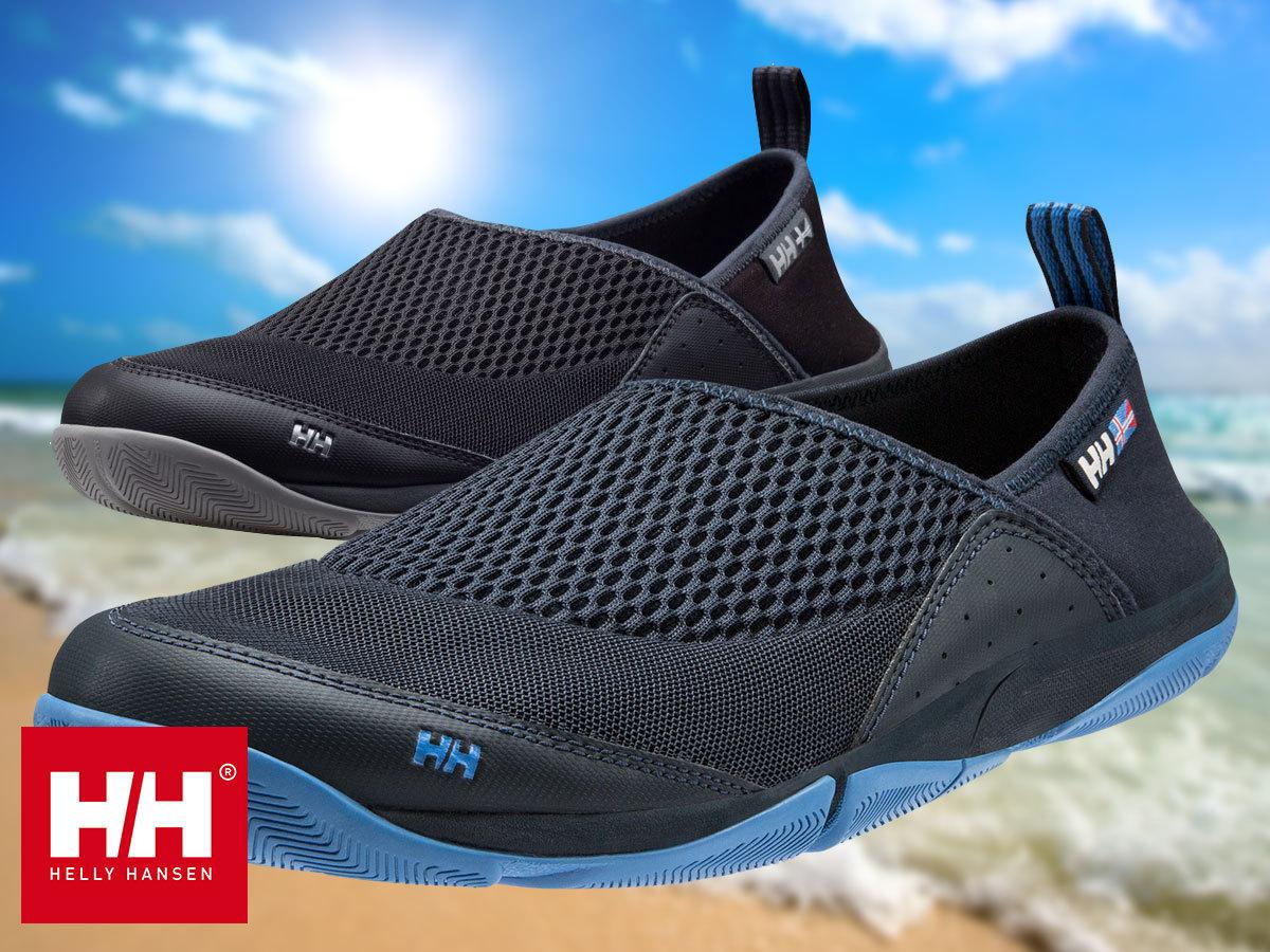 Helly Hansen WATERMOC 2 tengerész stílusú vitorlás cipő hajlékony, stabil gumitalppal, hálós felsőrésszel, 40-48 méretben