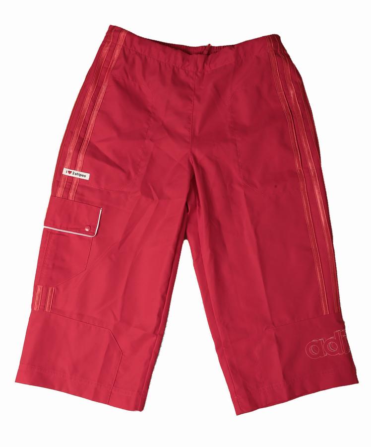 ADIDAS 3SA 3/4 WOVEN PANT - lány bermuda (piros) 603560 - 152