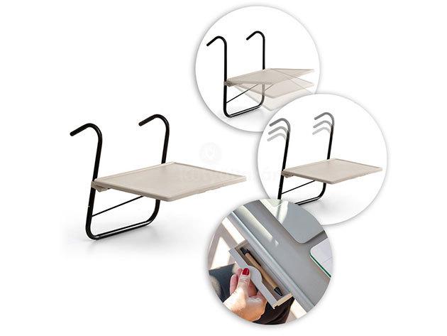 Erkélyre akasztható asztal 52 x 39 cm