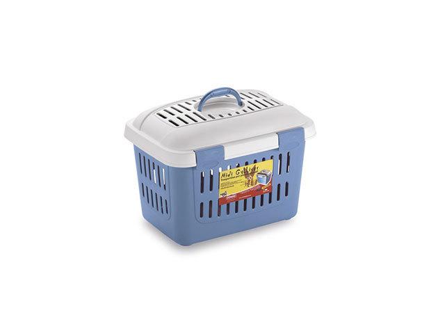 Házi kedvenc hordozó, 45x33x33 cm, kék - 01HTI-596164