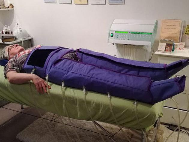 Nyirokrendszeri kezelés orvostechnikai nyomásterápiás eszközzel 1, 5 vagy 10 alkalom / XI. ker.