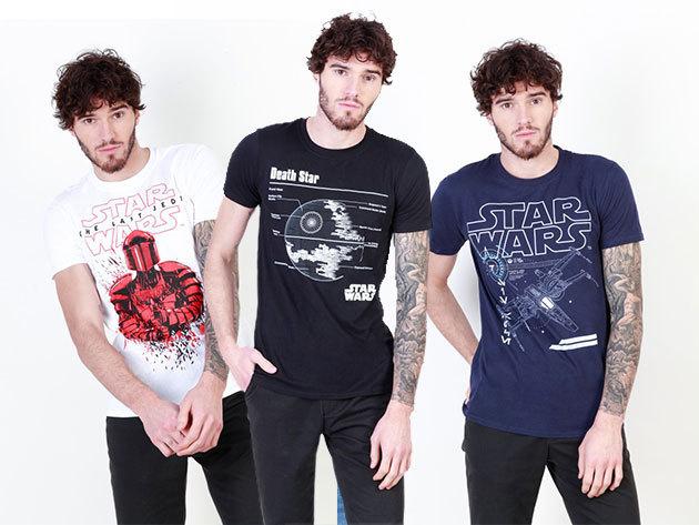 Star Wars férfi pólók nagy választéka 100% pamut anyagból, S-XXL méretben / Lepd meg vele rajongó ismerősödet!