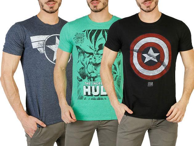 Marvel férfi pólók: Amerika Kapitány, Hulk, Vasember és Pókember mintás felsők S-XXL méretben