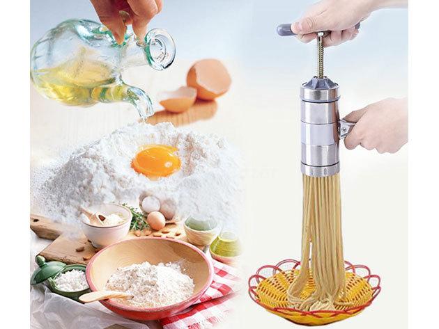 Kézi tésztakészítő gép 5 különböző fejjel a változatos fogásokhoz - Készíts tésztákat házilag!