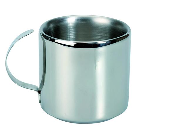 Kávés-cappuccinos pohár, rozsdamentes acél (MD 318)