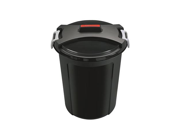 Kerti, Szemetes, fedeles, 48x55 cm, 46 L, fekete - 01HTI-401463
