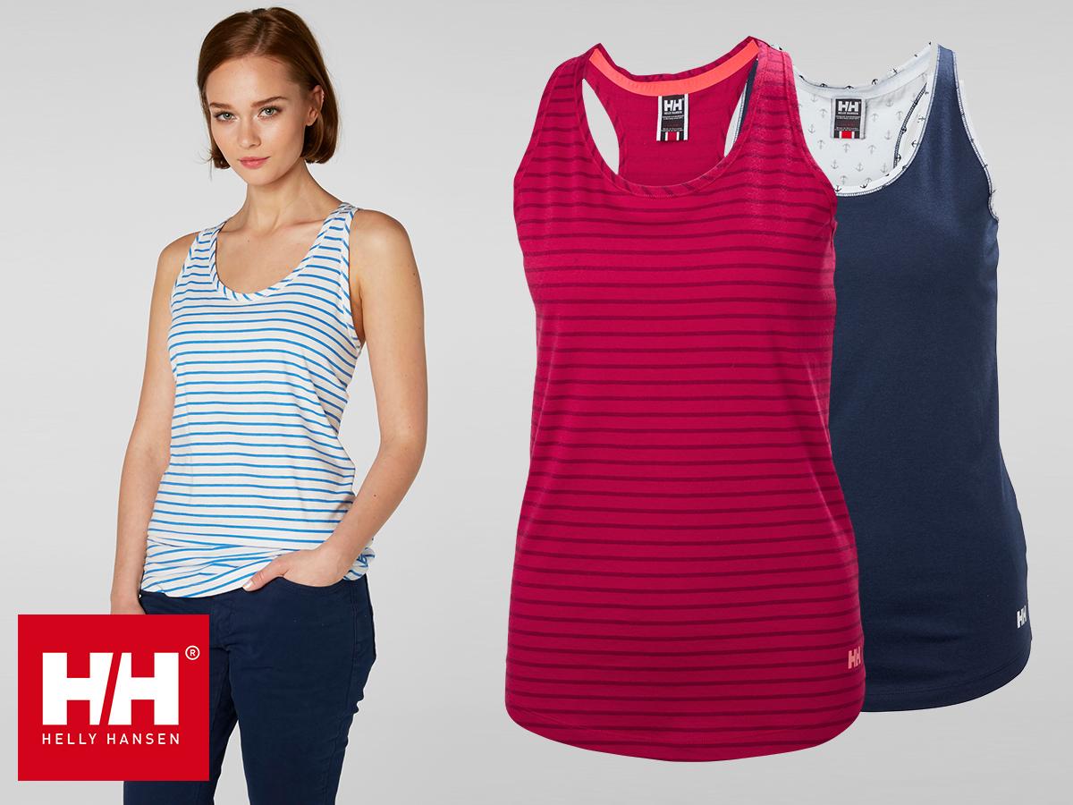 Helly Hansen W NAIAD SINGLET trikó / vitorlázás ihlette dizájn, puha rugalmas pamut dzsörzé anyag, extra kényelem - egyes termékek AZONNAL ÁTVEHETŐEK