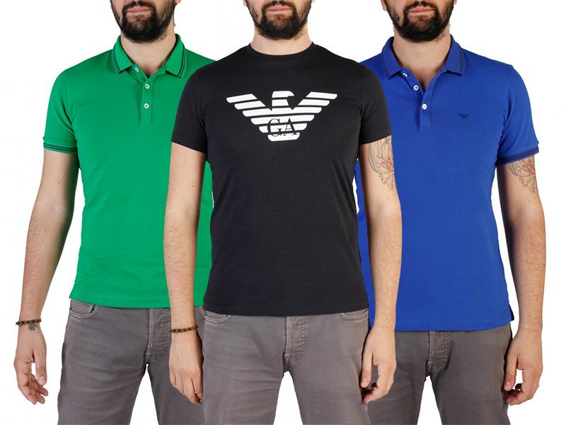 Emporio Armani rövid ujjú férfi pólók, akár galléros változatban, S-XXL méretben, prémium minőségben