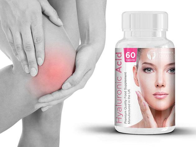 Hialuronsav kapszula - elősegíti a bőr védelmét, óv az UV sugárzástól és napfoltoktól, jótékony hatással van az ízületekre (50mg, 60 db/ doboz)