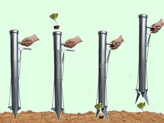 Kézi palántázó - Takaríts meg időt a zöldségek és virágok ültetésénél!