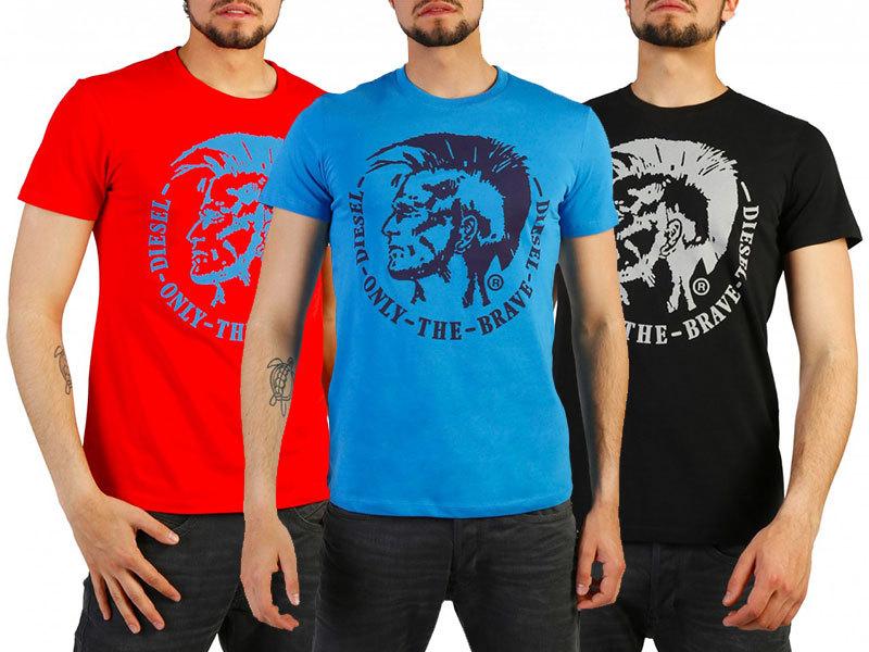 Diesel rövid ujjú férfi pólók S-XXL méretben, 100% minőségi pamut anyagból, trendi grafikával