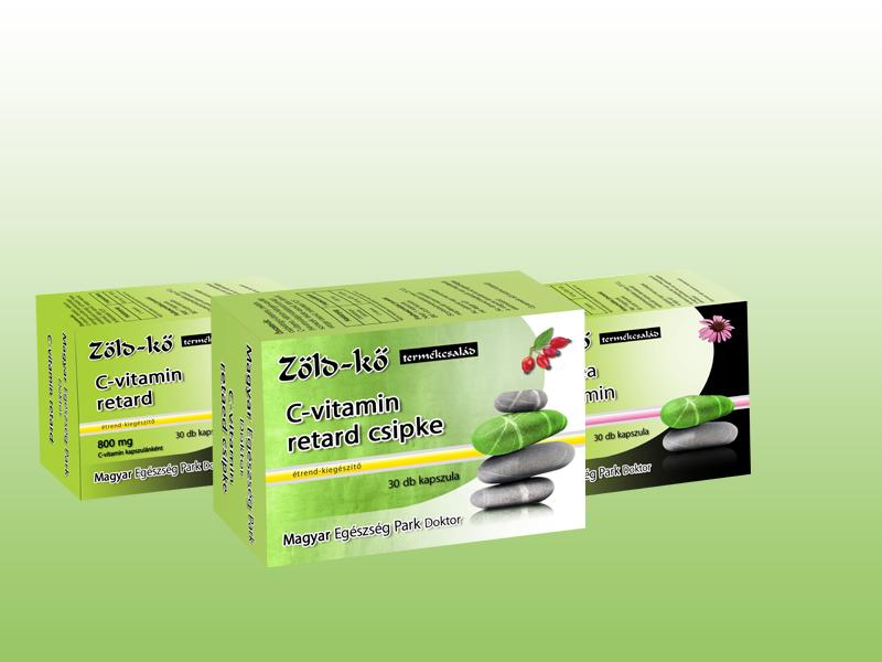 Zöld-kő C-vitamin retard Csipke kapszula (30 db) + ajándék Echinacea + C-vitamin kapszula (30 db)