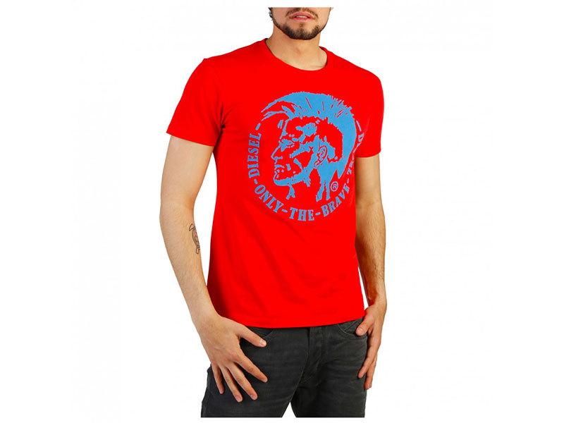 FÉRFI DIESEL RÖVID UJJÚ FELSŐ T-DIEGO-FO_00SQXC_0091B (piros) - L
