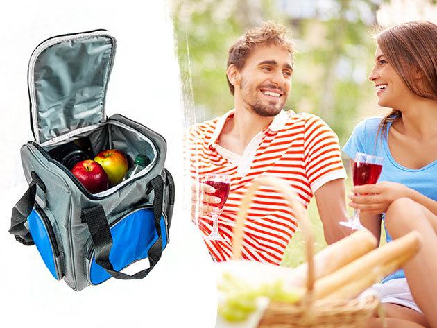 Mesko hűthető thermo táska - 16 literes, szivargyújtóról tölthető, sokáig frissen tartja a tartalmát