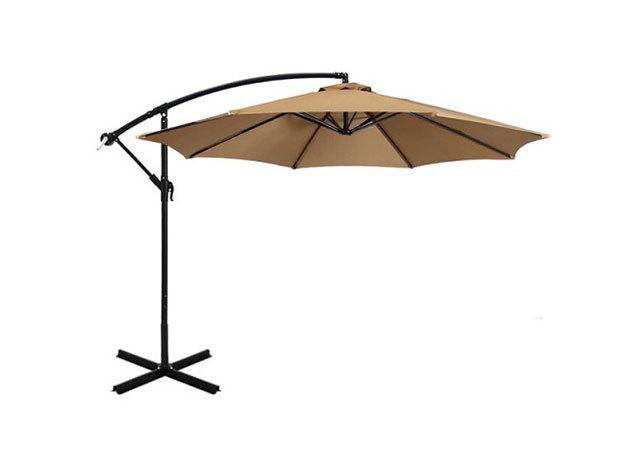 Függő napernyő 2,7 m - khaki HOP1000812