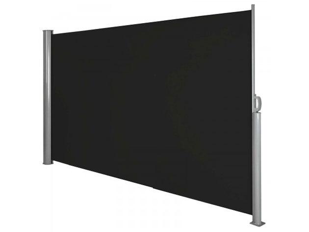 Kihúzható árnyékoló fal - fekete HOP1000719