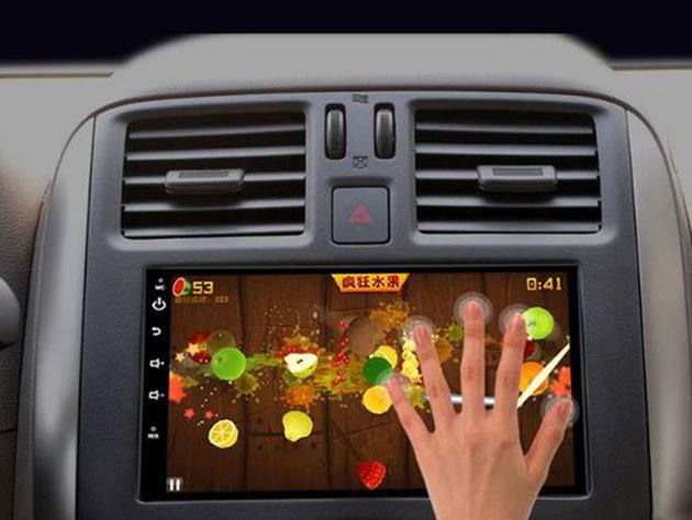 Androidos multimédiás rendszer + GPS, magyar menüvel, 7 inch-es érintőképernyő, 4 magos processzor, digitális TV bemenet