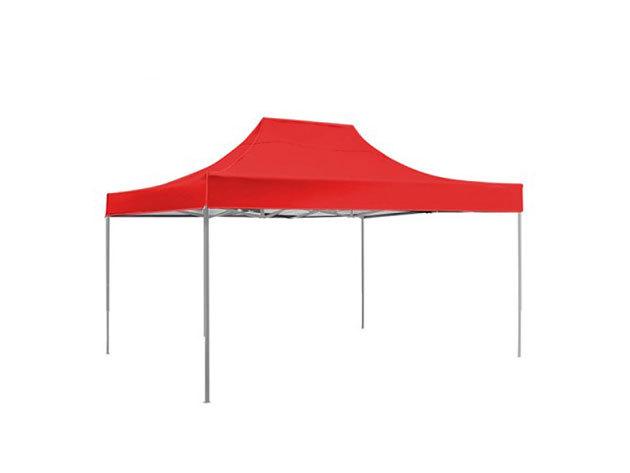 Kerti pavilon, összecsukható 3x3 m, piros színben - HOP1000712
