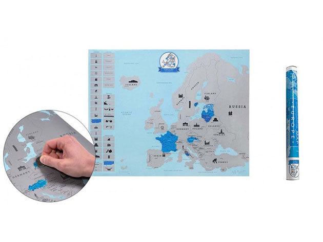 Európa kaparós térkép - HOP1000729
