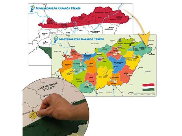 Magyarország kaparós térkép - HOP1000415