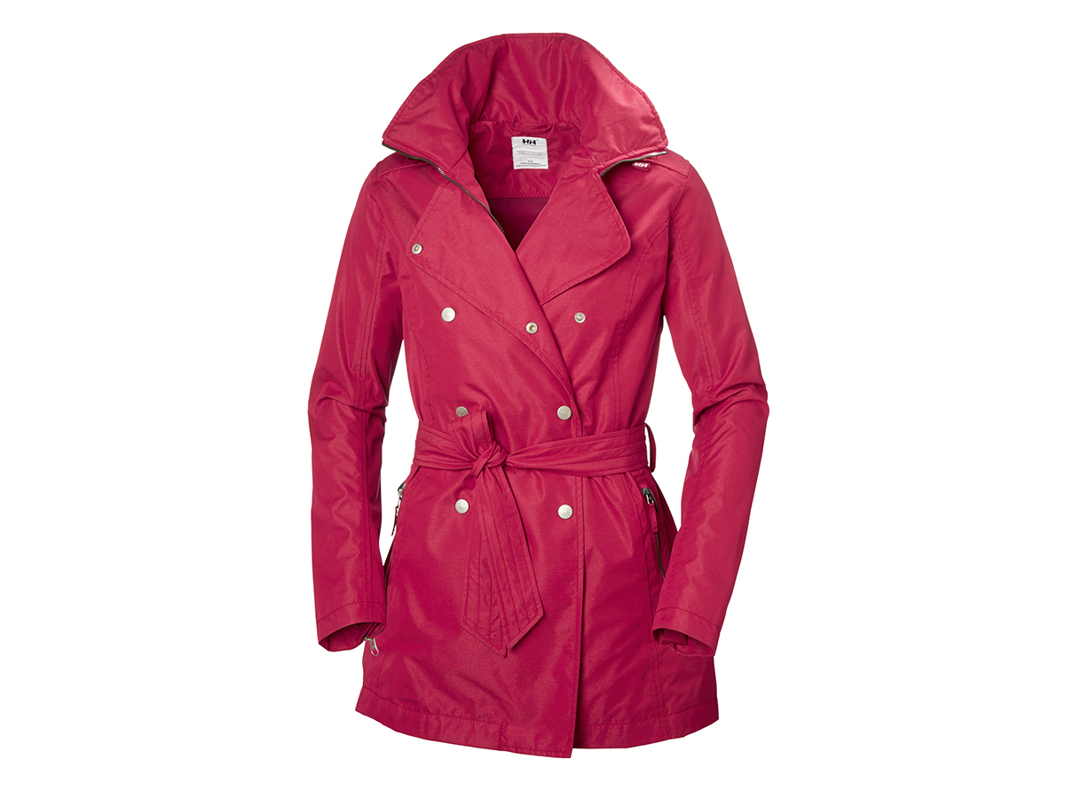 Helly Hansen W WELSEY TRENCH - PERSIAN RED - L (62383_183-L )