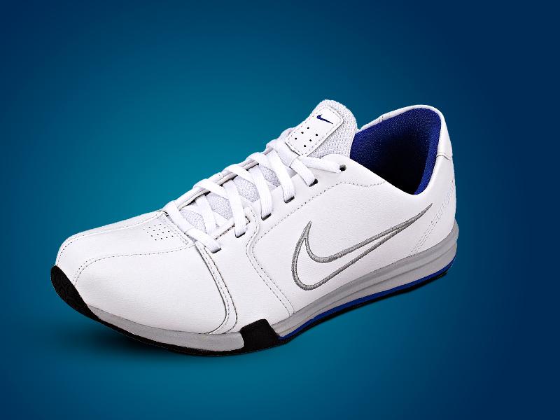 Nike Circuit Leather trainer férfi cipő (fehér-szürke-kék)