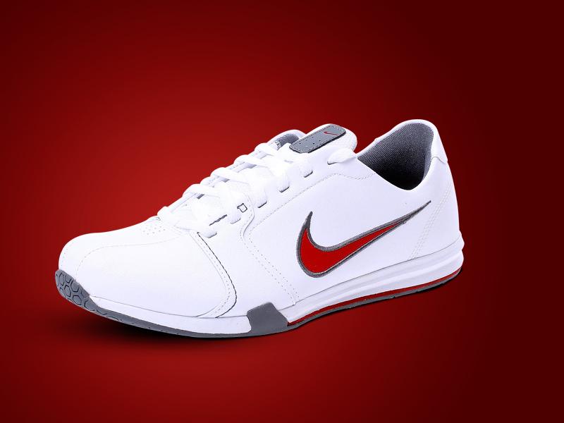 Nike Circuit Leather trainer férfi cipő (fehér-piros-szürke)