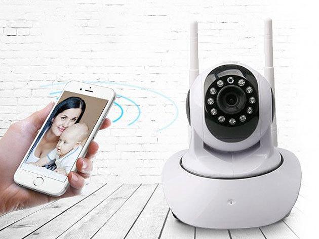 Mozgatható WiFi-s megfigyelő kamera 2 antennával - könnyedén figyelheted távolról otthonod, nyaralód vagy épp üzleted