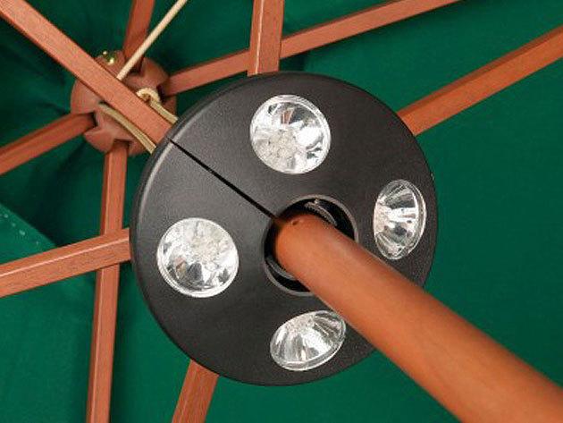 Napernyőre szerelhető Led világítás 4 lámpával esti hangulatfényekhez - könnyen felszerelhető, univerzális