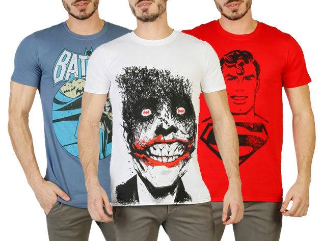 Férfi pólók DC COMICS képregényes mintákkal - Batman, Superman, Joker, stb., 100% pamut anyagból (S-XXL)